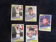 USA Baseball ~ Anaheim ANGELS 1985 ANGELS 5 CARDS. No.141,155,179,374 (2)
