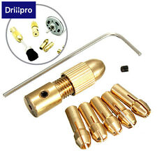 Drillpro 8pcs 0.5-3mm Small Electric Drill Bit Collet Micro Twist Drill Chuck Se