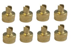 Brass Schrader Metallic Valve Dust Cap Tool Pack of 8 Caps