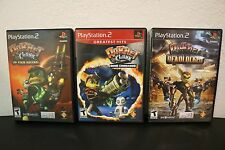 Lot of 3 Ratchet and Clank PS2 Lot- Going Commando, Up Your Arsenal and More!