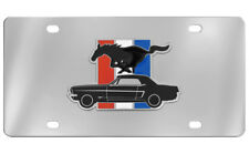 Ford Mustang Pony 3D Chrome Plated Decorative Vanity License Plate OEM