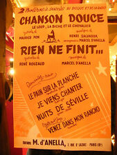 Partition Chanson Douce Henri Salvador Rien ne finit... d'Anella