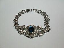 Armband, Modeschmuck, silberfarbig, Kristall Strass, s. Scan