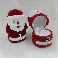 NEW Santa Claus Ring Earring Ear Studs Necklace Jewellery Case Box XMAS Gifts LH