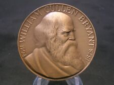 New listing William Cullen Bryant Nyu Hall Of Fame Bronze Medal - Medallic Art Company