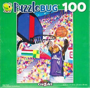 """Jigsaw Puzzle SLAM DUNK Basketball Monkey 100 Piece 8.75"""" x 11.25"""" Puzzlebug"""