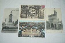 Lot 4 cartes postales anciennes ville de DIJON ( Côte d'Or )