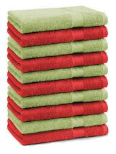 Betz lot de 10 serviettes d'invité Premium: rouge & vert pomme, 30 x 50 cm