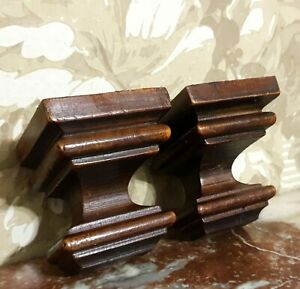 Pair decorative wood carving corbel bracket antique french architectural salvage