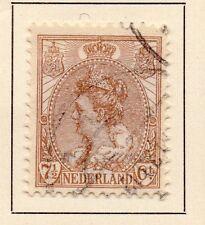 Paesi Bassi 1898-99 primi WILHELMINA problema BELLE USATI 7,5 c. 149309