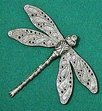 Large Dragonfly Brooch - Art Nouveau style brooch with detailed Dragonfly wings