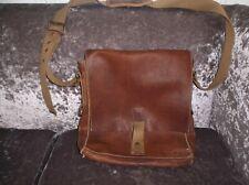 Men's white stuff vintage leather satchel bag - brown