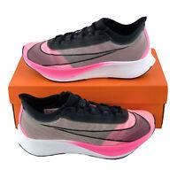 Nike Zoom Fly 3 Pink Blast Men's Running Shoes VaporWeave Black White AT8240 600
