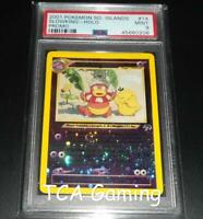 PSA 9 MINT Slowking 14/18 Southern Islands REVERSE HOLO Pokemon Card