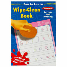 Fun To Learn Wipe Clean Book Letters & Writing - Children Educational Book
