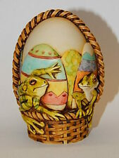Harmony Kingdom Ar Neil Eyre Designs Tree frog frogs Easter basket panoramic egg