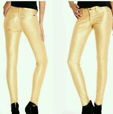NWT Guess by marciano The Skinny No 61–Gold Glitter jeans size 24 premium