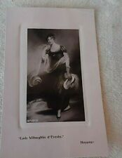 VICTORIAN EMBOSSED POST CARD LADY WILLOUGHBY D'ERESBY UNCIRCULATED