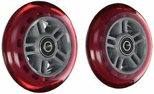 Razor Scooter Replacement Wheels Set with Bearings Red