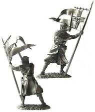 Middle Ages — Standard bearer of the Teutonic Order — 54 mm Lead Figure