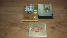 Jeu Nintendo NES The Legend of Zelda en boite et notice (sans carte)