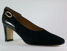 Marcantoni Ladies Shoes 41 Velour Black Lacquer Evening Shoes Pumps New