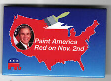 Paint America RED George W. BUSH 2000  pin MAP of USA Campaign pinback
