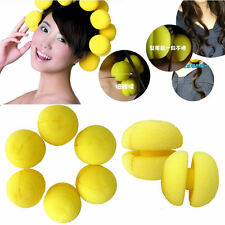 18 pcs Yellow Balls Soft Sponge Hair Styling Curler Rollers Hair Accessory Pins