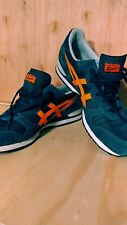 Onitsuka Tiger Mens Shoes RARE Alvarado NWOB Deep Blue Vibrant Orange Sz 13