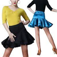 Ladies Latin Dance Fishtail Skirts Salsa Tango Ballroom Dancewear Rumba Practice