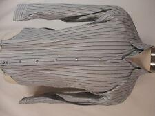 Armani Collezioni Mens Grey Stripe Long Sleeve Shirt M