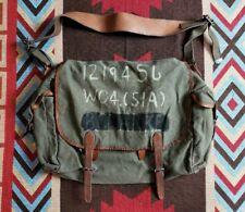 RRL Double RL Ralph Lauren Leather Canvas Nautilus Shoulder Bag Earnest Payment