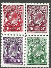 AUSTRALIA 2014 KING GEORGE V Centenary 1914-2014 BLOCK of 4 MNH