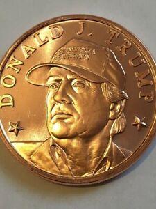 Donald Trump 1OZ .999 A.V.D.P Copper Round MAGA HAT
