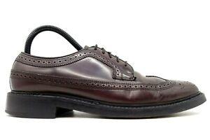 Florsheim Burgundy Leather Longwing Wingtip Lace Up Oxfords Shoes Men's 7 D