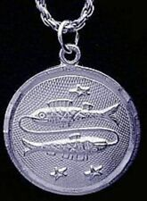 LOOK Pisces Pendant Zodiac Charm Star Solid Sterling silver .925 Jewelry New