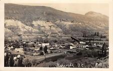 ASHCROFT, BC Canada British Columbia 1952 Bird's-Eye View Postcard Vintage RPPC
