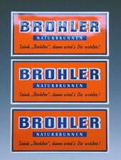 3 x Blechschild BROHLER NATURBRUNNEN um 1955
