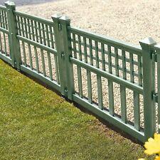 Green Plastic Fence Panels Garden Lawn Edging Plant Border Landscape Decor
