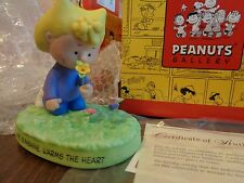 Hallmark Peanuts Collection Qpc4065 2002 Lucy Picking Flowers Figurine New n Box