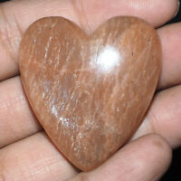143.75 Cts Natural Peach Amazonite Beautiful Heart Shape Huge Cabochon Gemstone