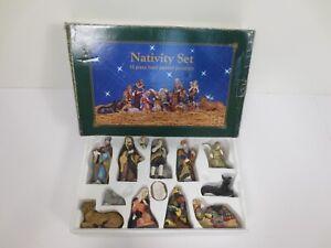 13 Piece Nativity Set Christmas Porcelain Hand Painted D22