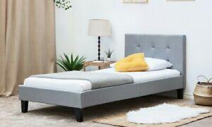 Blenheim Fabric Bed Frame. Single, Grey. RRP £299
