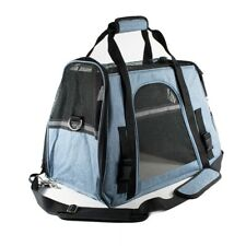 Aleko Portable Heavy Duty Pet Travel Shoulder Carrier Bag - Blue and Black