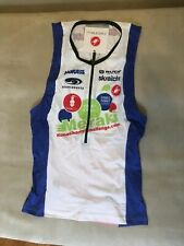 Castelli Mens Free Tri Top Medium M White Red Triathlon cycling tank