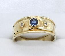 Natural Diamond Band Yellow Gold Fine Rings