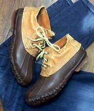 LL Bean Women's 7.5 Hunting Duck Lace Up Ankle Rubber & Leather Vintage Boots