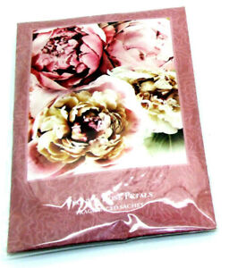 Scented Wardrobe Hanger - Double Scented Fragrance Sachet Peony & Rose Petals