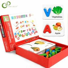 Wooden Learning ABC Alphabet Letter Cards  Educational Toys Kids Puzzle