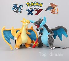2X Genuine Pokemon XY Mega Charizard Soft Plush Stuffed Animal Doll Toy Teddy
